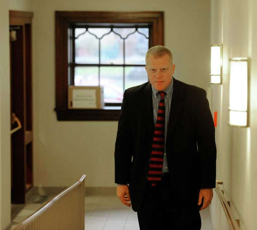 Trey Smith, the special prosecutor investigating the ongoing ballot fraud scandal, enters the Rensselaer County Courthouse in Troy, N.Y., in December 2011. (Skip Dickstein / Times Union archive)