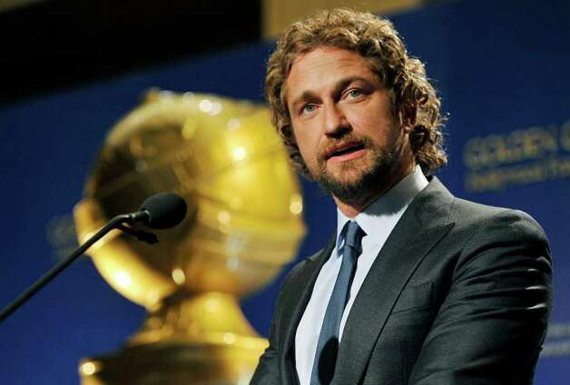Presenter Gerard Butler announces nominations for the 69th Annual Golden Globe Awards, Thursday, Dec. 14, 2011, in Beverly Hills, Calif. The Golden Globe Awards will be held on Sunday, Jan. 15, 2012, in Beverly Hills, Calif. (AP Photo/Chris Pizzello) Photo: Chris Pizzello