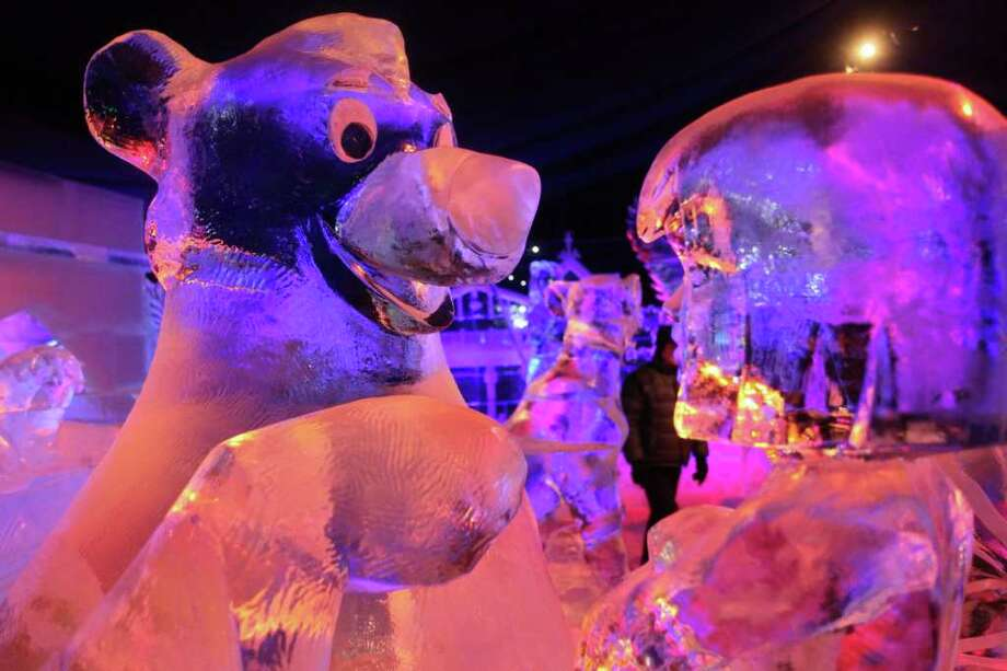 Ice sculptures based on the characters by Walt Disney are shown at the Snow and Ice Sculpture Festival on December 15, 2011 in Brugge, Belgium. Photo: Mark Renders, Getty / 2011 Getty Images