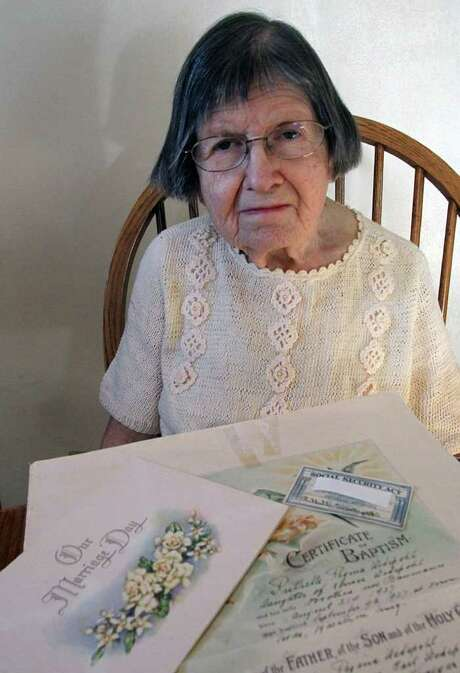DAN YOUNG : WAUSAU DAILY HERALD  LONGTIME VOTER: Ruthelle Frank can easily prove that she is who she claims to be, but the documents weren't good enough to get her a state identification card in Wisconsin. Photo: Dan Young / The Wausau Daily Herald