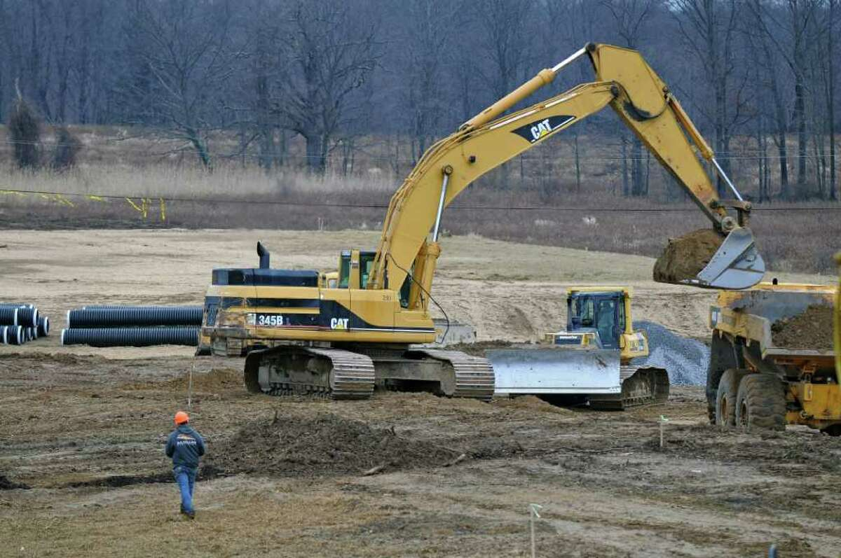 View of construction of a new ShopRite supermarket at the Vista Technology Campus at Vista Boulevard, on Thursday Dec. 15, 2011 in Slingerlands, N.Y. (Philip Kamrass / Times Union )