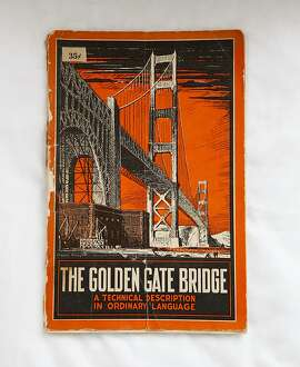 Caudia Schwartz's Golden Gate Bridge commemorative booklet is seen in her San Francisco, Calif., home on Thursday, Oct. 13, 2011.