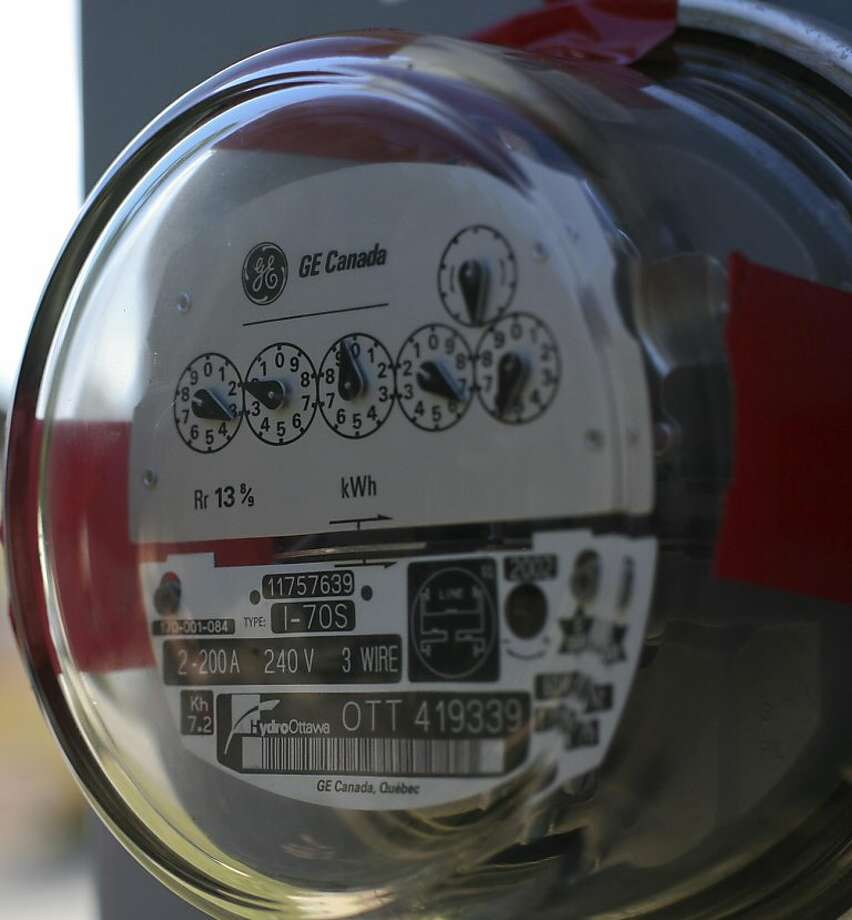 Bianca Carn had the PG&E smart meter removed from her home by a licensed electrician and in it's place reinstalled an analog meter on Thursday, December 15, 2011 in Santa Cruz, Calif.  PG&E responded by shutting off the power to her house. Photo: John Sebastian Russo, Special To The Chronicle
