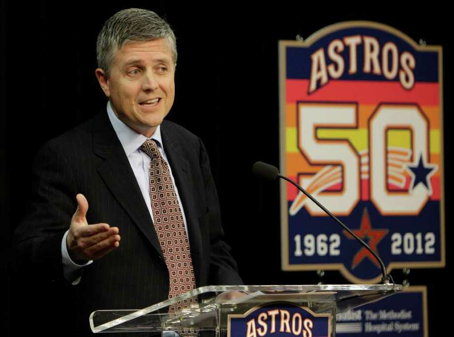 Houston Astros new general manager Jeff Luhnow speaks during news conference at Minute Maid Park   Thursday, Dec. 8, 2011, in Houston. ( Melissa Phillip / Houston Chronicle ) Photo: Melissa Phillip / © 2011 Houston Chronicle