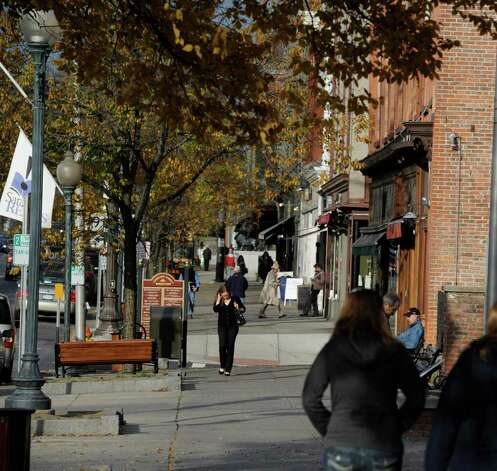 Broadway in Saratoga Springs, November 14, 2011.    (Skip Dickstein / Times Union) Photo: SKIP DICKSTEIN / 2011