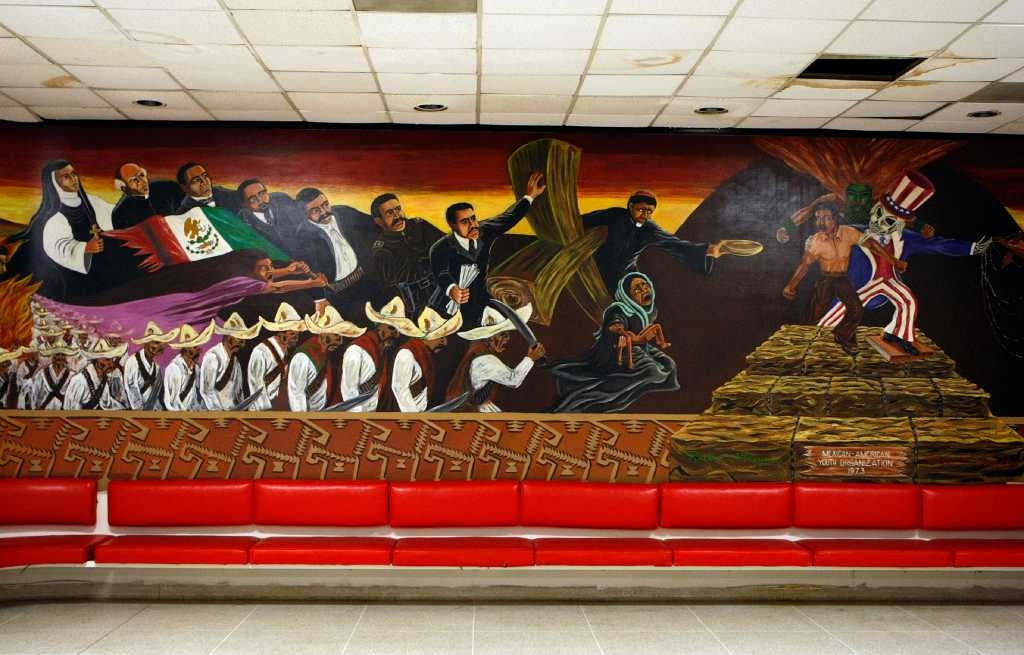 Uh renovation could threaten chicano mural houston chronicle for Chicano mural movement