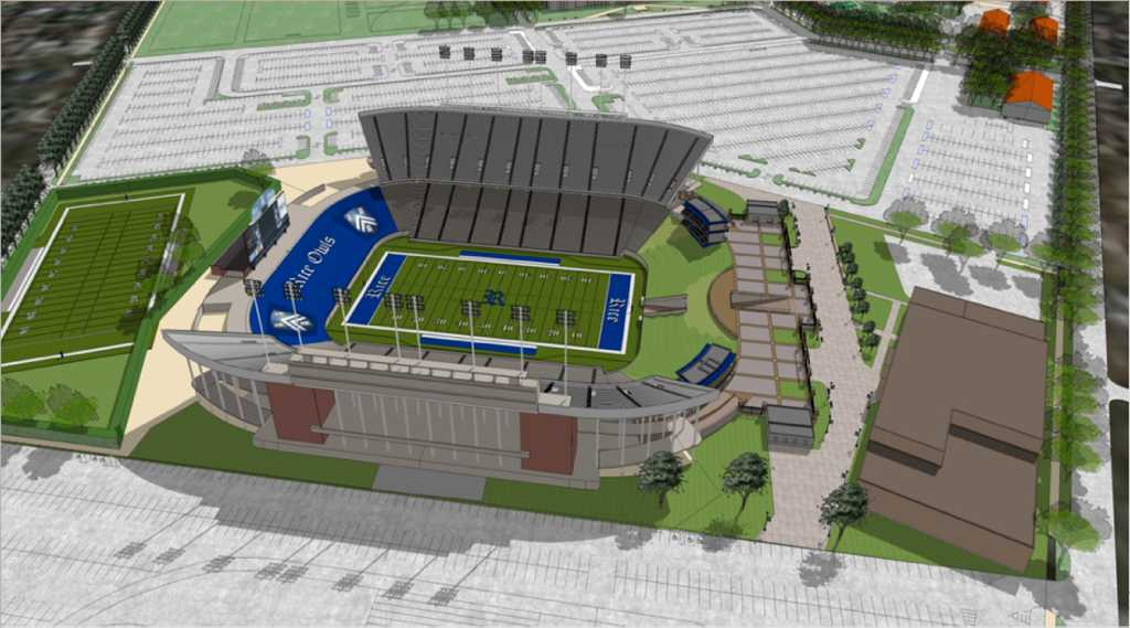 Plans Unveiled For Renovation Of Rice Stadium