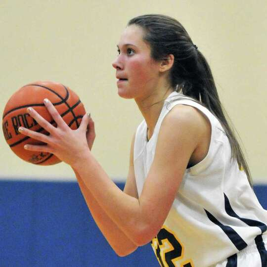 Holy Names'  #32 Hannah Friend during Friday nights' game against Watervliet at the Academy of the H