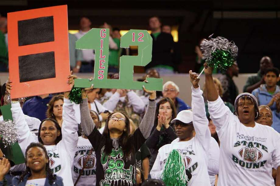 Hightower fans show support for their team following the 5A Div. 1 state championship high school football game at Cowboys Stadium on Saturday, Dec. 17, 2011, in Arlington. Southlake Carroll won the game 36-29. Photo: Smiley N. Pool, Houston Chronicle / © 2011  Houston Chronicle