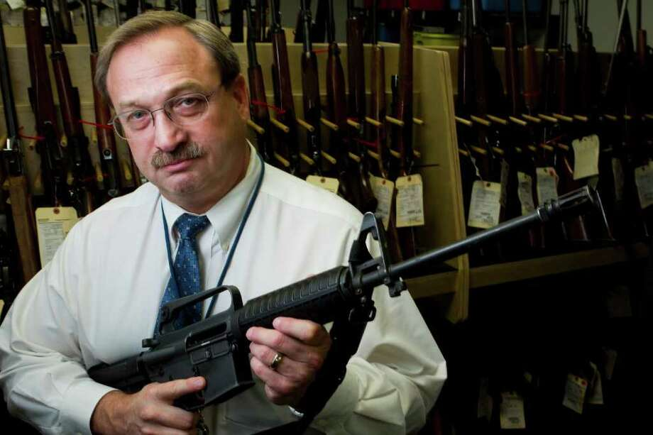 Dewey Webb, special agent in charge of the Bureau of Alcohol, Tobacco, Firearms and Explosives' Houston division, says Americans want common-sense gun laws. Photo: Brett Coomer / © 2011 Houston Chronicle