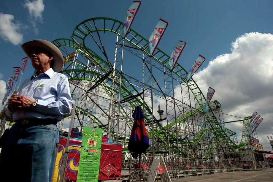 Houston Livestock Show and Rodeo COO Leroy Shafer stands behind Ray Cammack Shows despite the death of a rider on the Hi Miler roller coaster on March 20. Photo: Johnny Hanson / Houston Chronicle