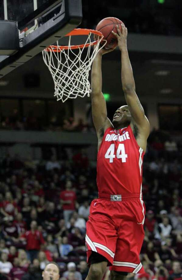 Ohio State's William Buford (44) goes up to the basket during the first half of an NCAA college basketball game against South Carolina on Saturday, Dec. 17, 2011, in Columbia, S.C. (AP Photo/Mary Ann Chastain) Photo: Mary Ann Chastain