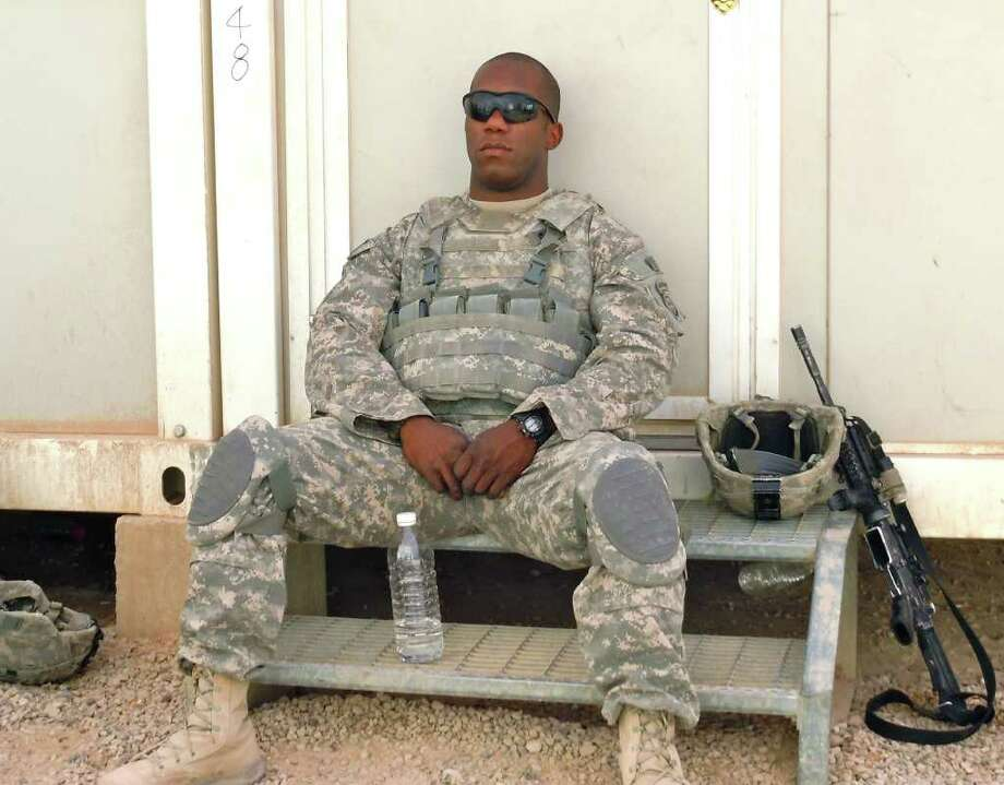 Army Spc. David E. Hickman, shown here at an air base in Anbar Province, was killed in Iraq on Nov. 14. Hickman, 23, of Greensboro, N.C., was the 4,474th member of the U.S. military to die in the Iraq war, according to the Pentagon. Photo: Courtesy Of Zack Zornes, The Washington Post / HO