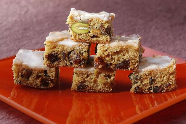 Apricot-Pistachio Bars as seen in San Francisco, California on Wednesday, November 30, 2011. Food styled by Sunny Liu. Photo: Craig Lee, Special To The Chronicle
