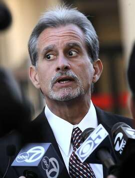 Lead attorney, Frank Pitre speaks with the media outside the Superior Court building on Friday December 16, 2011, in  Redwood city, Ca. Pitre representing the victims of the San Bruno blast, attending a hearing this morning where PG&E took liability for the 2009 explosion.