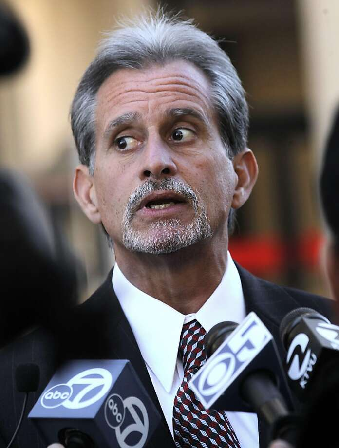 Lead attorney, Frank Pitre speaks with the media outside the Superior Court building on Friday December 16, 2011, in  Redwood city, Ca. Pitre representing the victims of the San Bruno blast, attending a hearing this morning where PG&E took liability for the 2009 explosion. Photo: Michael Macor, The Chronicle