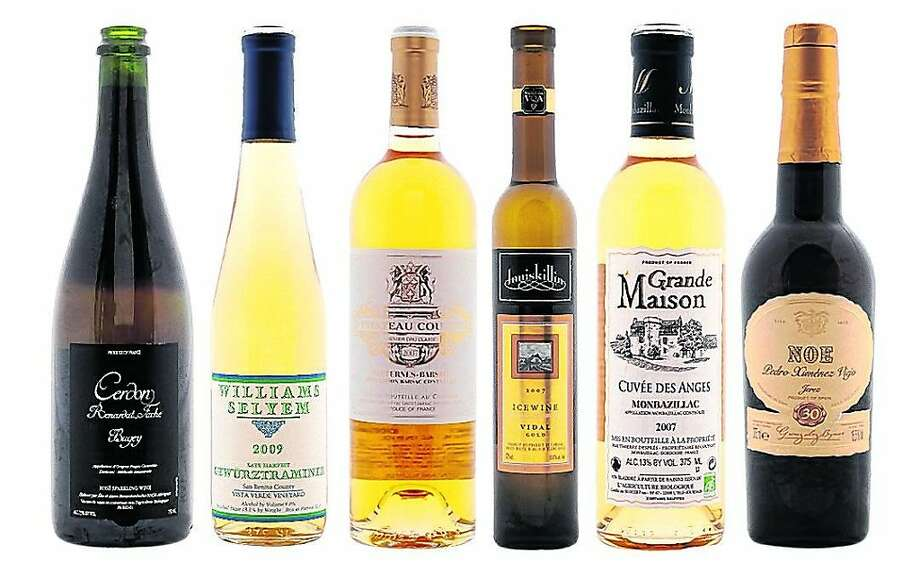 Sauternes, Monbazillac and their counterparts (not to scale).   Food#Food#Broadsheet#12/18/2011#ALL#Advance2##0504738910 Photo: Craig Lee, Special To The Chronicle