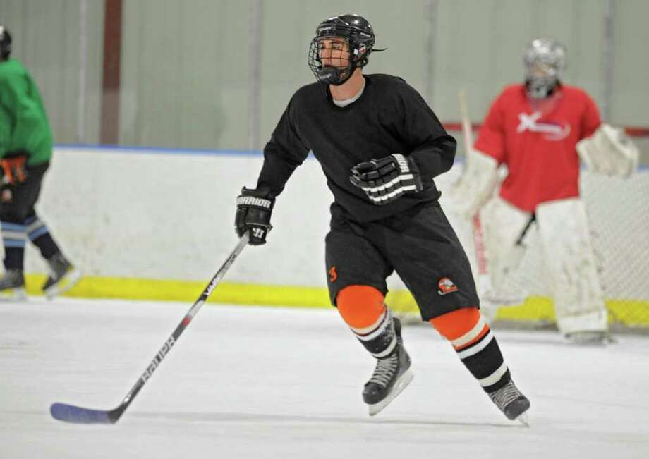 Bethlehem High School hockey player Nicholas Parente during practice at the Bethlehem YMCA on Wednesday, Dec. 14, 2011 in Delmar, N.Y.  (Lori Van Buren / Times Union) Photo: Lori Van Buren