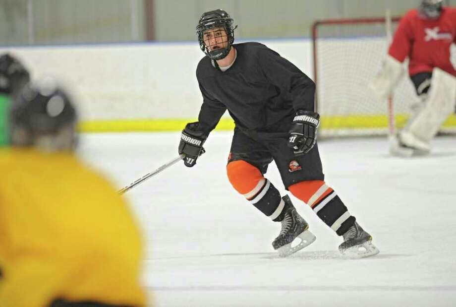 Bethlehem High School hockey player Nicholas Parente during practice at the Bethlehem YMCA on Wednesday, Dec. 14, 2011 in Delmar, N.Y.  (Lori Van Buren / Times Union) Photo: Lori Van Buren