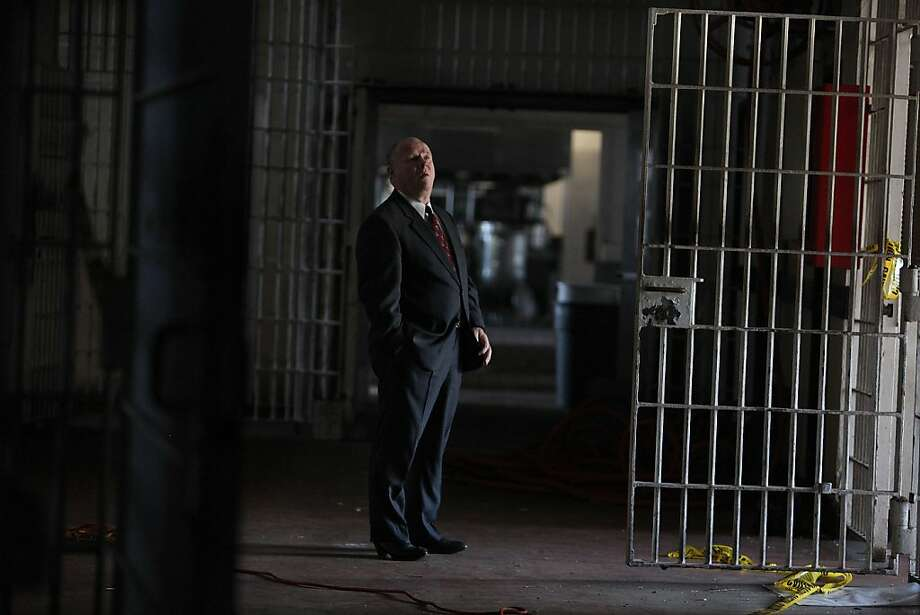 San Francisco Sheriff Michael Hennessey, who is retiring after 32 years in office, looking through the old jail facility in San Bruno, Calif., on Wednesday, November 29, 2011.  He started as a lawyer working with social workers at this facility and had initiated many programs to rehabilitate inmates. Photo: Liz Hafalia, The Chronicle
