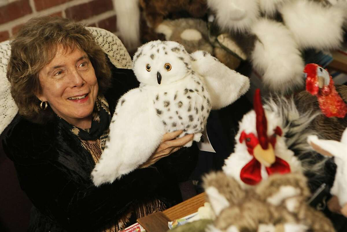 Judy Folkmanis, who has been making stuffed animal puppets for over 30 years, at her office in Emeryville, Calif., on Friday, Dec. 16, 2011.