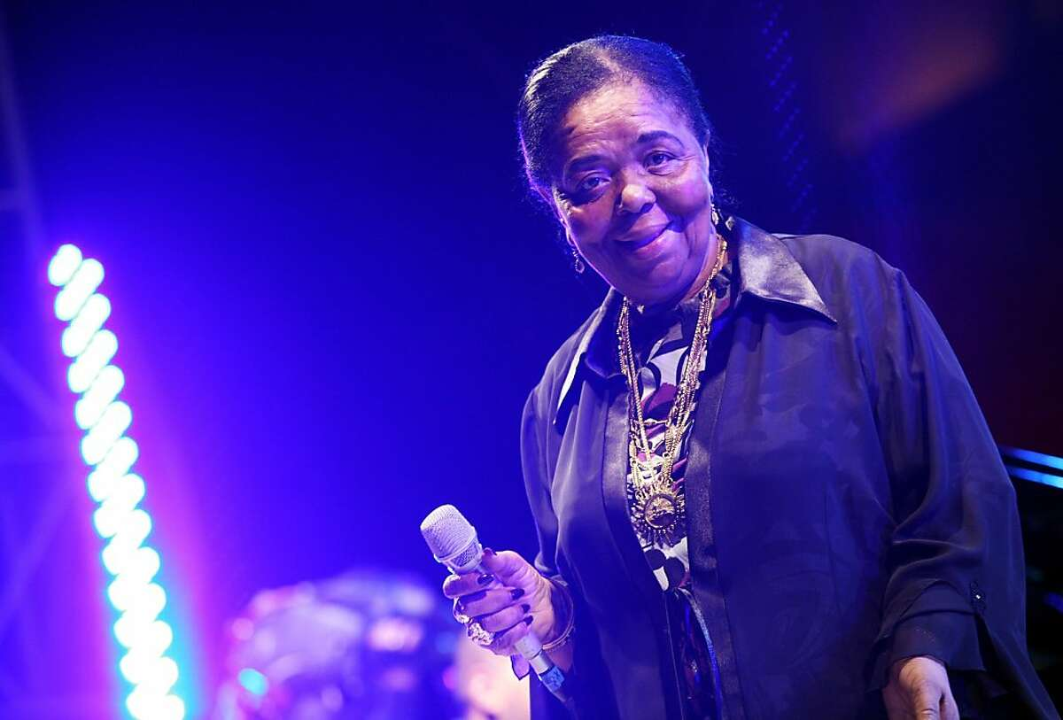 ROME - APRIL 22: (FILE PHOTO) Singer Cesaria Evora, 70, has died in Baptista de Sousa Hospital on December 17, 2011 in Mindelo, Sao Vicente, Cape Verde. Please refer to the following profiles on Getty Images Archival for further imagery http://www.gettyimages.co.uk/Search/Search.aspx?EventId=136039879&EditorialProduct=Archival Singer Cesaria Evora performs on stage during the Nat Geo Music Concert to celebrate the Heart Day at Campidoglio Square on April 22, 2008 in Rome, Italy. (Photo by Elisabetta Villa/Getty Images)
