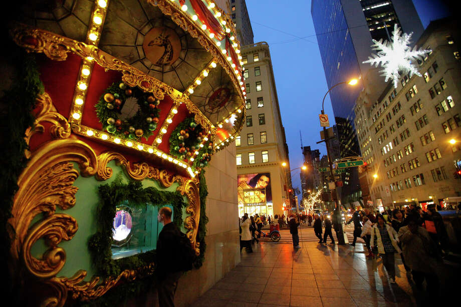 Part of a Tiffany & Co.  Holiday Window is seen in New York. Long gift list or short,  light  wallet or big spender,  window shopping is something that can be enjoyed  by almost everyone. Manhattan's most famous Midtown retailers are known  for splashy displays that have become as much a holiday tradition here  as the Rockefeller Center Christmas tree or sidewalk Santas.     (AP  Photo/Bebeto Matthews)
