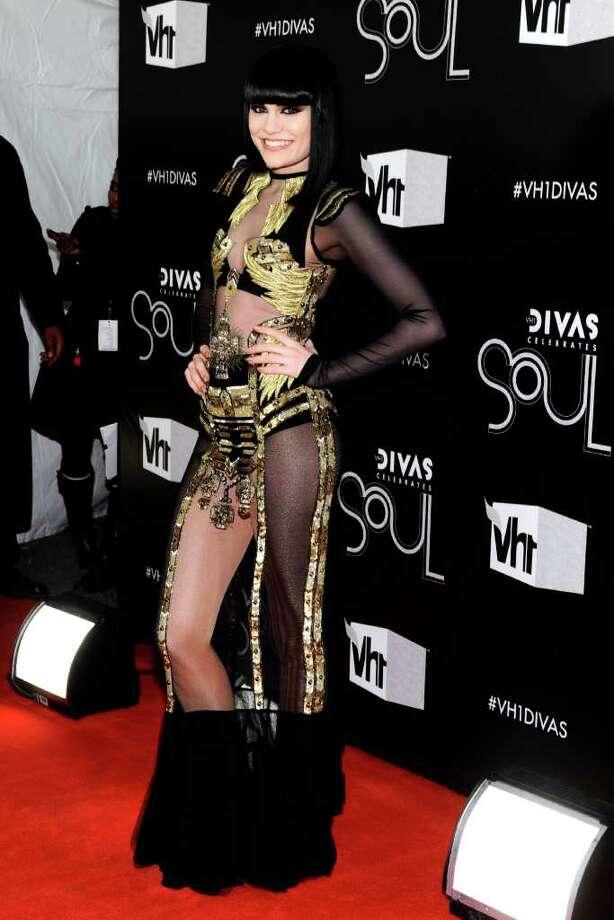 "Singer Jessie J arrives at the ""Vh1 Divas Celebrates Soul"" on Sunday, Dec. 18, 2011, in New York. (AP Photo/Charles Sykes) Photo: Charles Sykes"