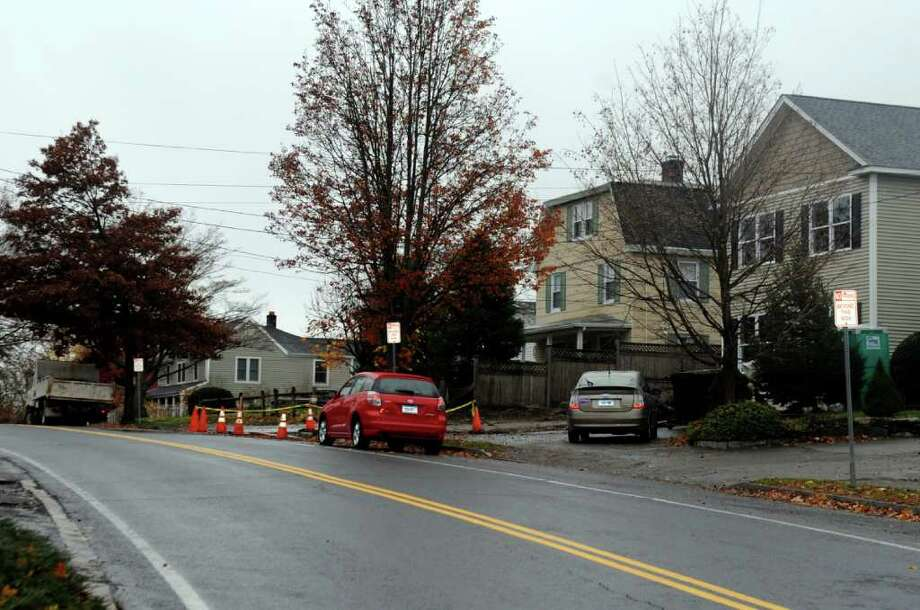 The town is considering a 90-day trial period in which parking would be restricted between 68-42 Valley Road. Residents are concerned about traffic and parking in the neighborhood. Photo: Helen Neafsey / Greenwich Time