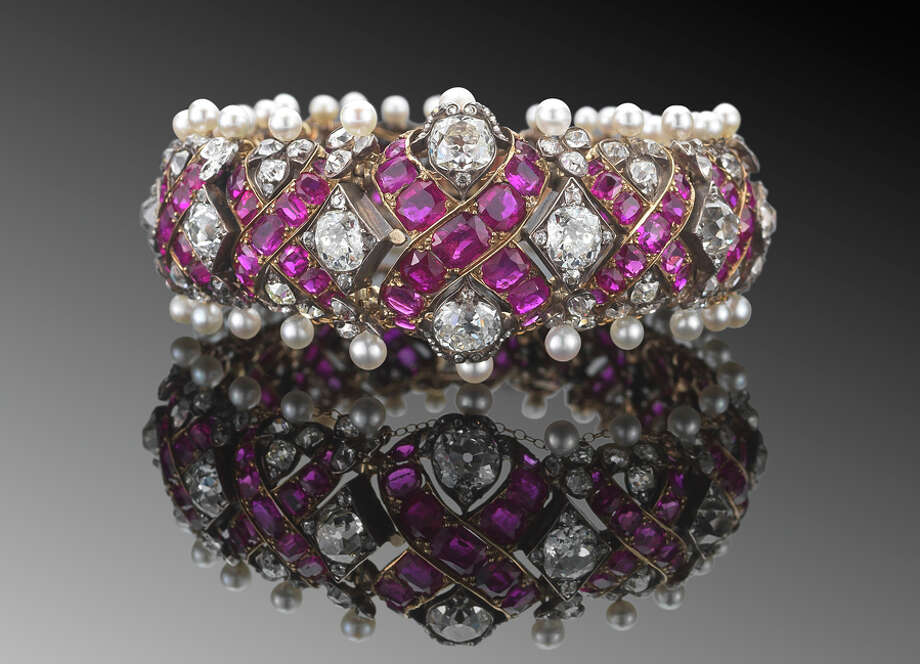 Jack Mitchell, CEO of The Mitchells Family of Stores, announced New York jeweler Fred Leighton will bring his jewelry to Mitchells of Westport and Richards of Greenwich. This cuff is one of the pieces. Photo: Contributed Photo / New Canaan News