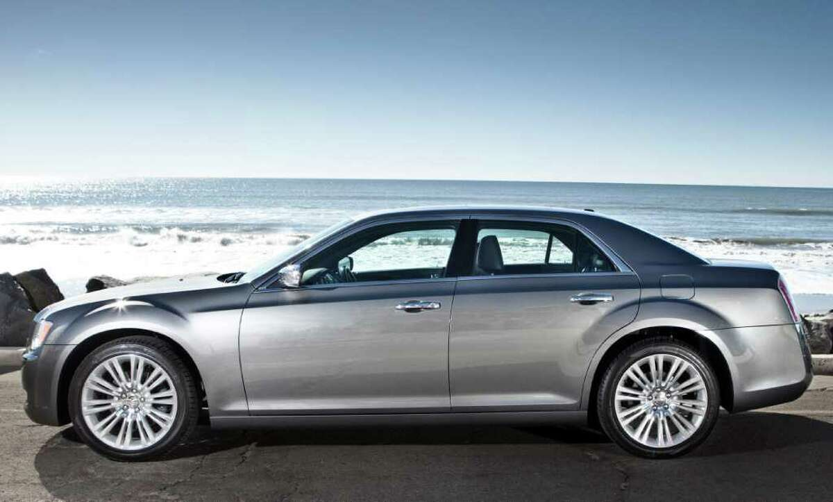 Up to five people can ride comfortably in the 2012 Chrysler 300 sedan, which comes with a choice of either a 292-horsepower V-6 or two V-8 engines.