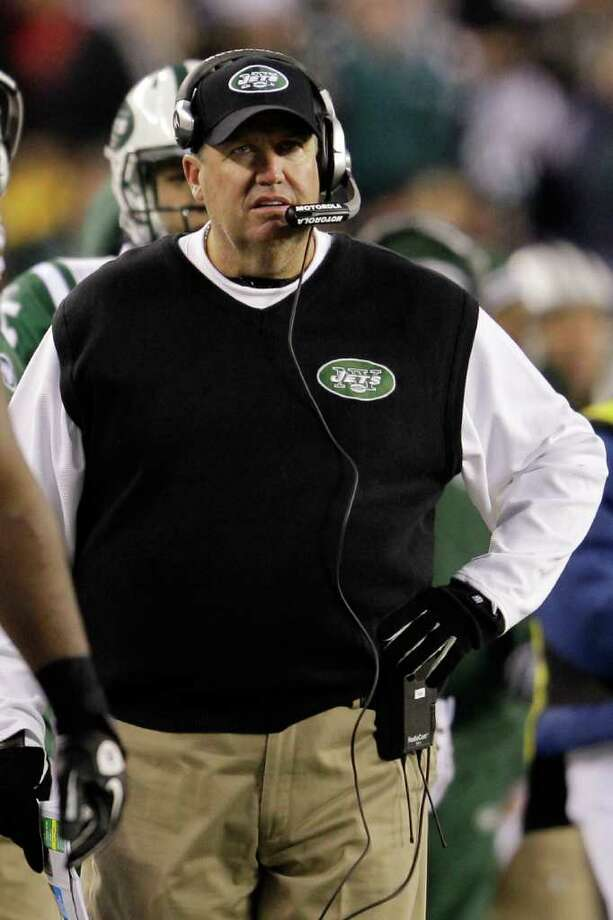 PHILADELPHIA, PA - DECEMBER 18: Head coach Rex Ryan of the New York Jets looks on from the sidelines against the Philadelphia Eagles during the first half at Lincoln Financial Field on December 18, 2011 in Philadelphia, Pennsylvania.  (Photo by Rob Carr/Getty Images) Photo: Rob Carr