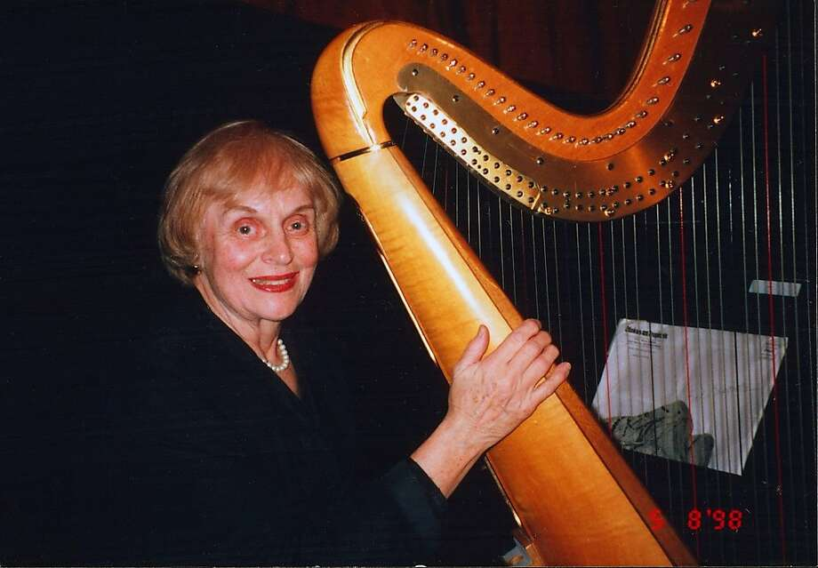 Harpist Marcella Decray. Photo: Courtesy Of The Family, The Chronicle