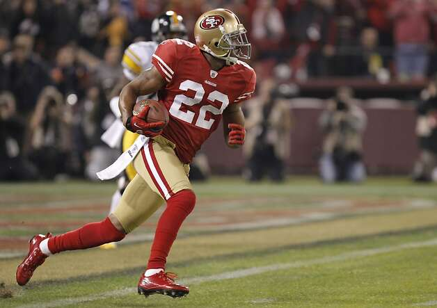 49ers' Carlos Rogers, (22) with a first quarter interception, as the San Francisco 49ers take on the Pittsburgh Steelers, on Monday December 19, 2011, in San Francisco, Ca. Photo: Michael Macor, The Chronicle