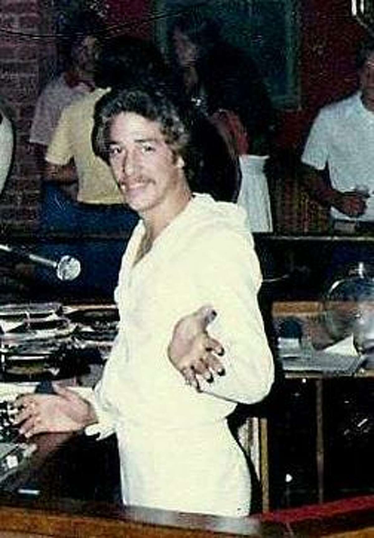 Late '70s photo of Tito Morales, San Antonio disco DJ.