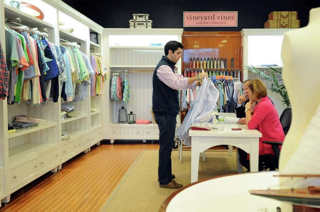 Affordable Andrew Deloria Presents The Line To A Wholesale Account At  Vineyard Vines In Stamford On Tuesday With Furniture Stores Stamford Ct