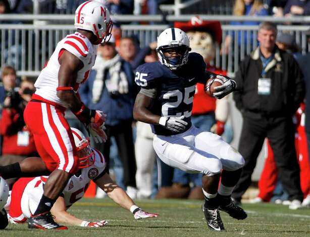 STATE COLLEGE, PA - NOVEMBER 12:  Silas Redd #25 of the Penn State Nittany Lions carries the ball against the Nebraska Cornhuskers during the game on November 12, 2011 at Beaver Stadium in State College, Pennsylvania.  (Photo by Justin K. Aller/Getty Images) Photo: Justin K. Aller, Getty / 2011 Getty Images