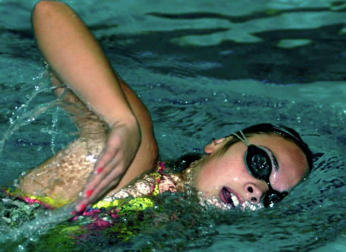 SPECTRUM/Jessica Bieber of New Milford High School swimming. December 2011