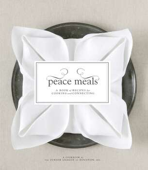 BOOK JACKET -- Peace Meals: A Book of Recipes for Cooking and Connecting by The Junior League of Houston, Inc. / handout CD