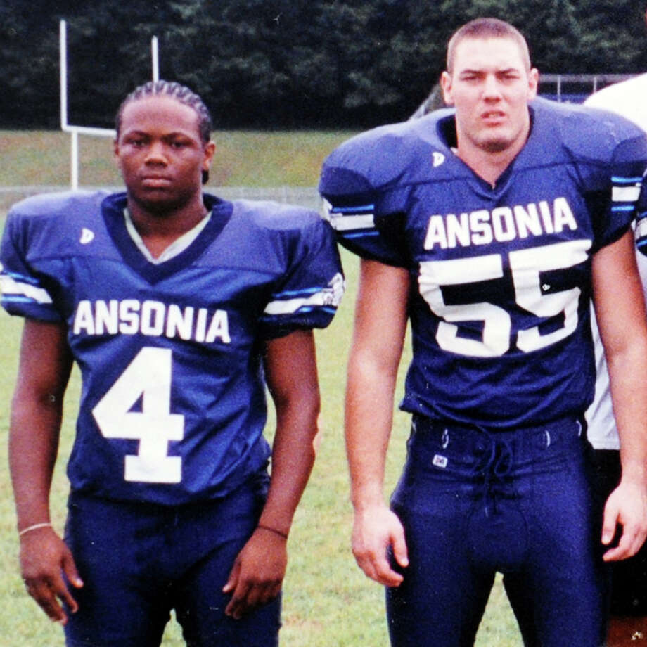 Darnell Cooks and Steve Zuraw, members of the 2002 and 2003 Ansonia High School back-to-back state champion football team.  Zuraw died in a car accident in June 2009 and Cooks died in a car accident in 2011. Photo: Contributed Photo / Connecticut Post Contributed