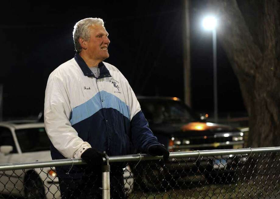 A look at the Ansonia football program and the multi-generational reach it has, during a recent game against Wilby in Ansonia, Conn. on Friday November 11, 2011. Retired Head Coach Jack hunt watches the action. Photo: Christian Abraham / Connecticut Post