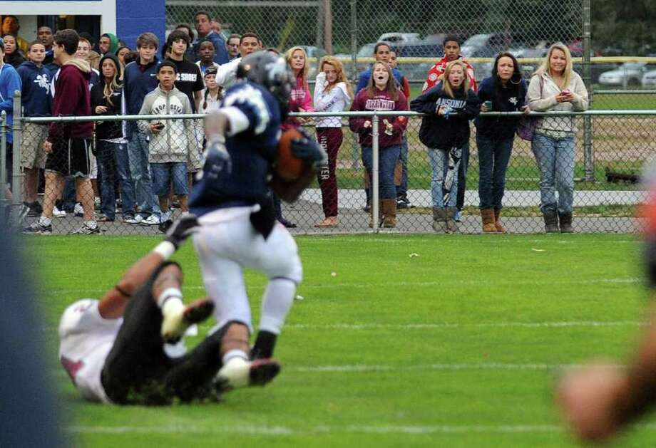 Highlights from boys football action between Ansonia and Torrington in Ansonia, Conn. on Thursday September 15, 2011. Photo: Christian Abraham / Connecticut Post