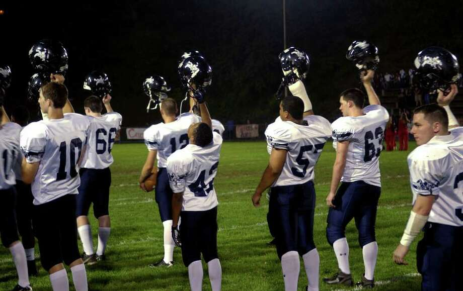Highlights from boys football action between Derby and Ansonia in Derby, Conn. on Friday September 30, 2011. Photo: Christian Abraham / Connecticut Post