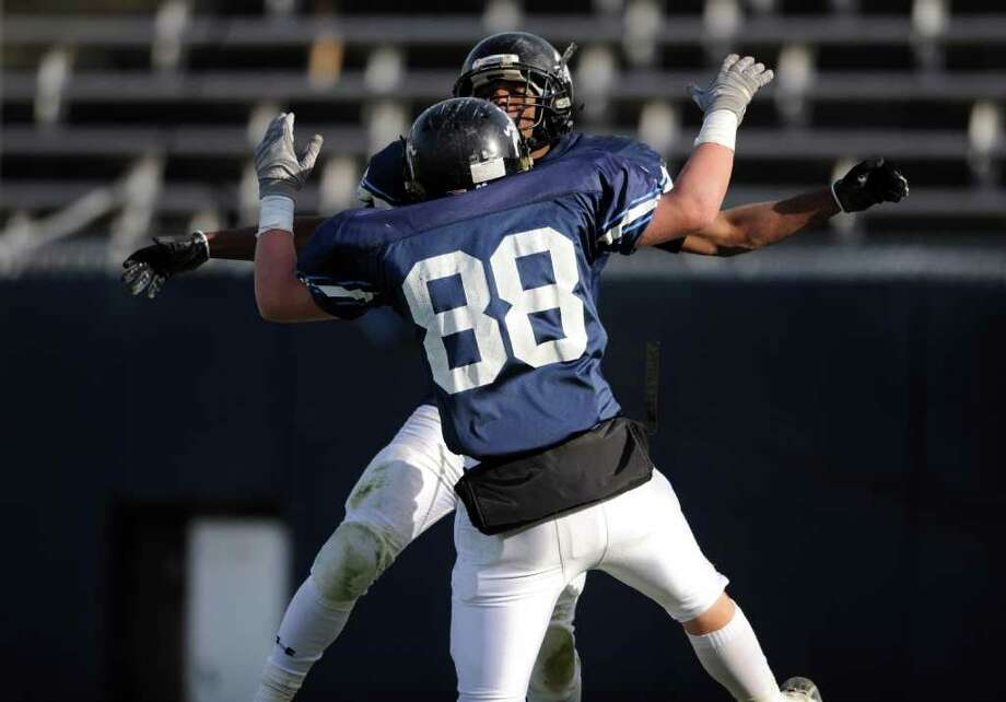Ansonia takes on Ledyard Saturday, Dec. 10, 2011 during the Class M State Championship football game at Rentschler Field in East Hartford, Conn. Photo: Autumn Driscoll / Connecticut Post