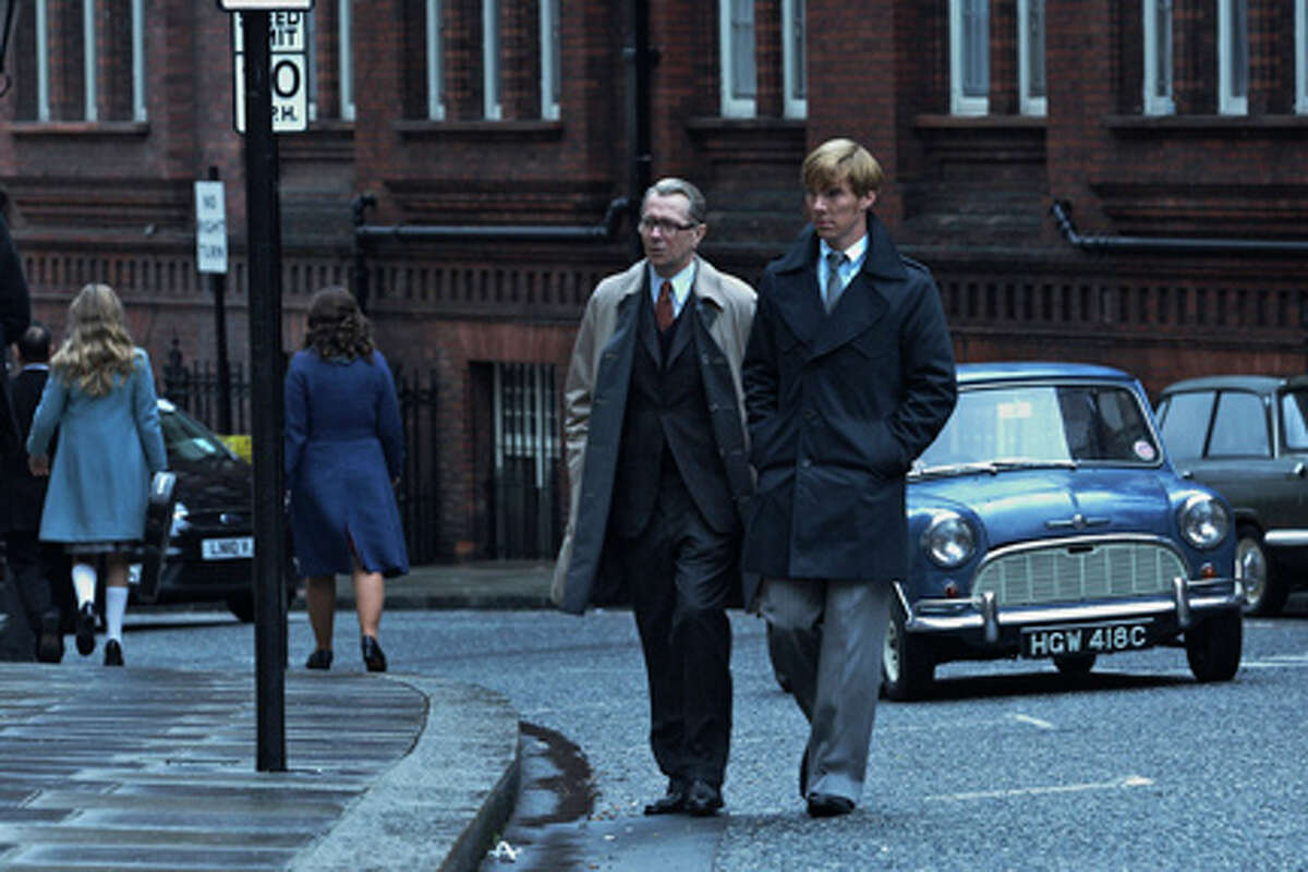 (L-R) Gary Oldman as George Smiley and Benedict Cumberbatch as Peter Guillam in