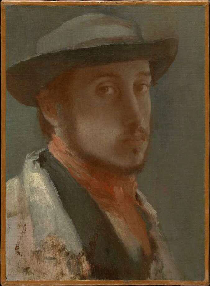 Self-Portrait, c. 1857?58, by Edgar Degas. Oil on paper mounted on canvas, 26 x 19.1 cm. Sterling and Francine Clark Art Institute [Image © Sterling and Francine Clark Art Institute]