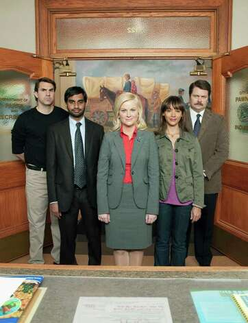 "Jakle's pick, Lead actress/comedy series: Amy Poehler (center), ""Parks and Recreation,"" NBC Photo: MITCHELL HAASETH, NBC / MCT"