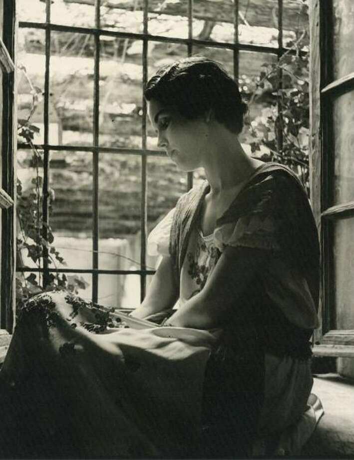 Photo of unknown model in the Spanish Governor's Palace, probably taken in 1936 by Swedish photographer Count Henrik C.A. von Schoenfeldt for a local exhibit of San Antonio historic sites Photo: Courtesy