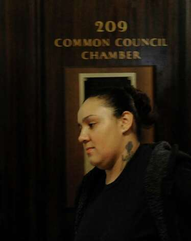 Jasmine L. Tirado leaves Schenectady City Court, after her appearance Dec. 7, 2011.     (Skip Dickstein / Times Union) Photo: SKIP DICKSTEIN / 2011