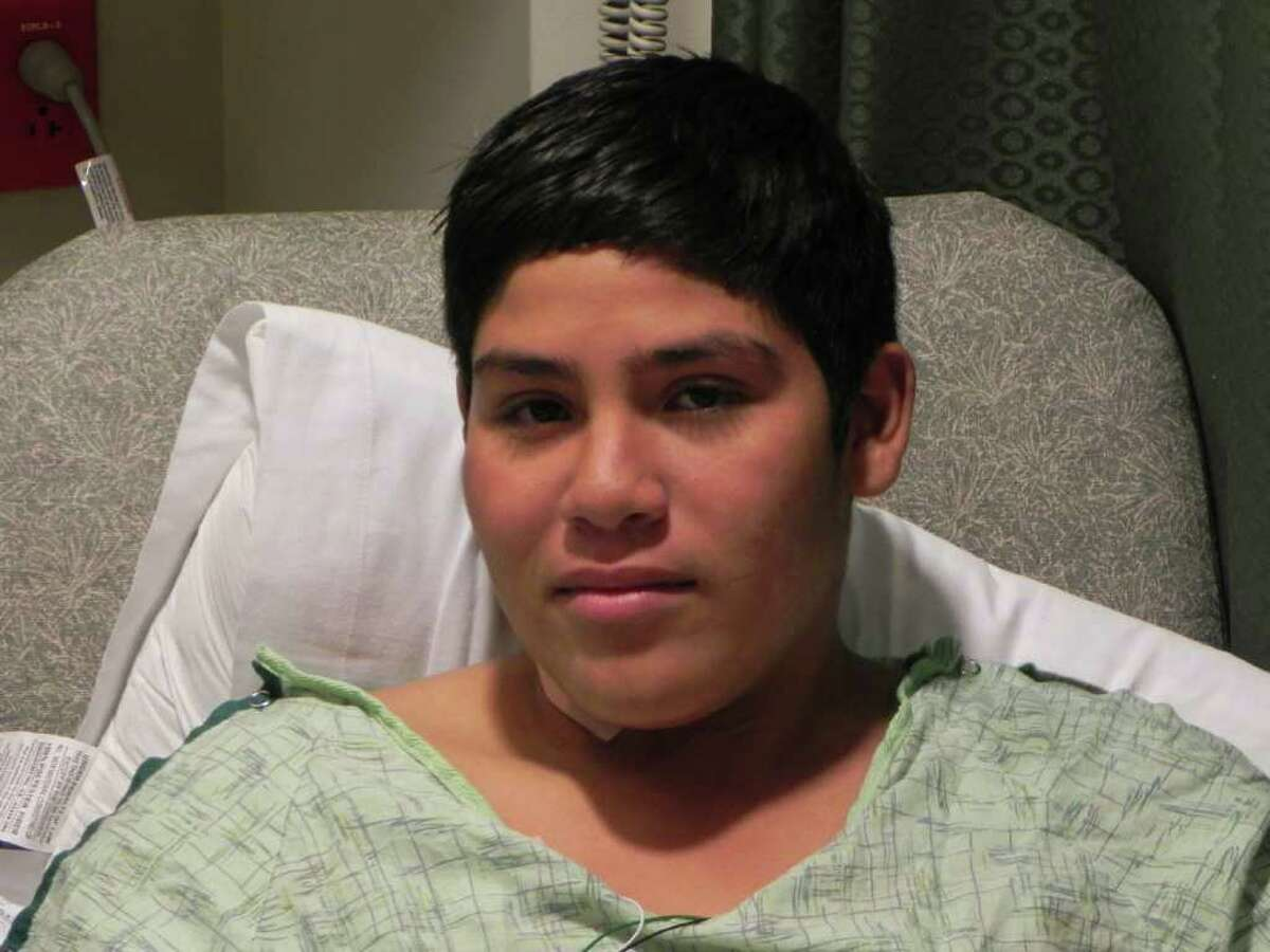 Edson Amaro was shot while trying out for the basketball team. He may be going home by Christmas.